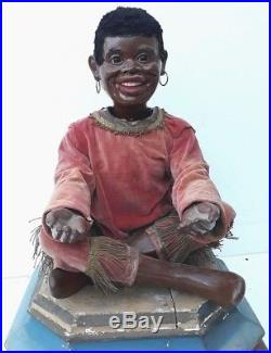 Rare, antique automata, automaton, window store display, black americana, advertising