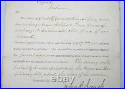 Rare1892 Letter Signed Former Slave John R. Lynch Early Black US Congressmen