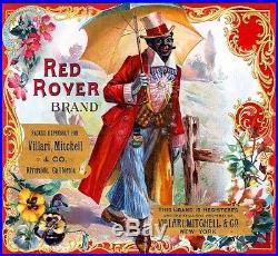 Riverside Red Rover Black Americana Orange Citrus Fruit Crate Label Art Print