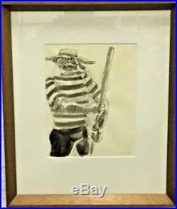 Robert Colescott (1925- 2009) Painting Drawing Iconic African American Artist