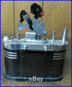 Ronson Bartender Touch Tip Table Lighter Art Deco African American Bartender