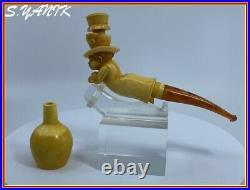 S. YANIK MEERSCHAUM Pipe BLACK AMERICANA BELLBOY Best Quality Fitted Case