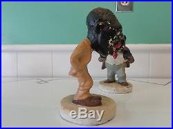 SUPER RARE 1930's Antique Amos and Andy Chalk Chalkware Statues Art Statuary Co