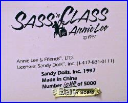 Sass'n Class/ Annie Lee. Ltd Ed. Retired. Hand Painted. Mother Board. New