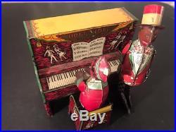 Scarce 1920's Unique Art Hott & Tott Piano (similar to Ham & Sam) Tin Windup Toy