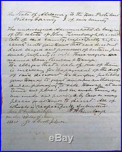 Slave Document-1864 Wilcox County/Camden, Alabama AL-'Three Negro Slaves' Black
