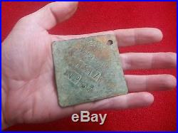 Slave tag copper 1817