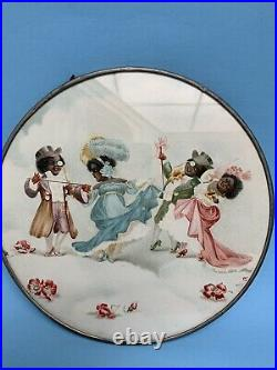 (Sorry Firm Price) Black Americana Round Plaque- Free Inter. Shipping