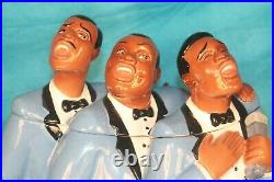 Soul Tones Jazz Singers Black Americana Cookie Jar Clay Art 1998 Salt and Pepper
