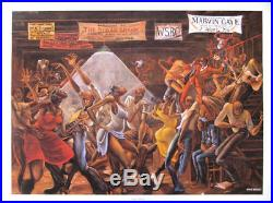 Sugar Shack by Ernie Barnes lithograph 24 by 34in black art print authentic