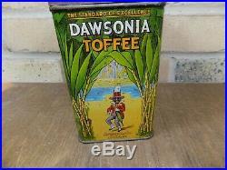 Superb Dawson's Sugar Coon Black Americana Display Advertising Tin c1920s
