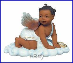 Sweet Cheeks Crawling Angel Baby African American Figurine SKU 16700