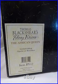 THOMAS BLACKSHEAR EBONY VISIONS THE AFRICAN QUEEN with coa