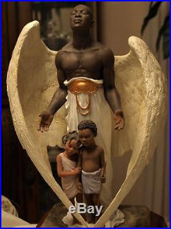 THOMAS BLACKSHEAR EBONY VISIONS THE GUARDIAN with Cert. Of Authenticity