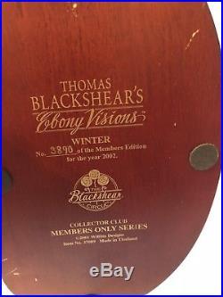 THOMAS BLACKSHEAR EBONY VISIONS WINTER No Box No COA