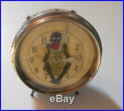 TOPSY Rare Vintage Black Americana Alarm Clock Antique Boy Watermellon 1942 Runs