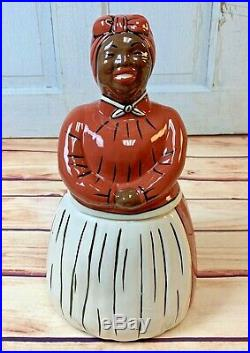 The New Rose collection Red Mammy Cookie Jar Blk Americana Rose Saxby