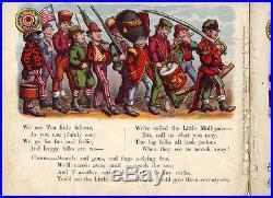 The TEN LITTLE MULLIGAN GUARDS Childrens Book/Game 1873 Black Americana REDUCED