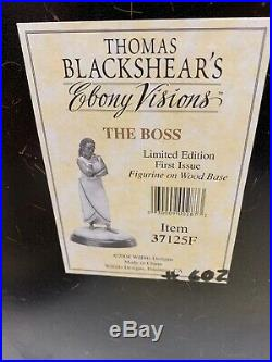 Thomas Blackshear Ebony Vision The Boss Limited Edition First Issue With Box