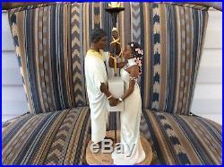 Thomas Blackshear Ebony Visions 2003 Commitment Cake Topper 37116 Wedding Couple