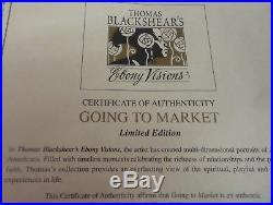Thomas Blackshear Ebony Visions GOING TO MARKET Limited Edition NIB COA