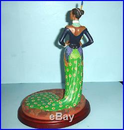 Thomas Blackshear Ebony Visions LADY PEACOCK 1st Issue Figurine COA Lenox 822041
