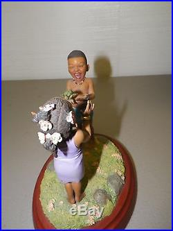 Thomas Blackshear Ebony Visions Surprise Figure On Wood Base 2001 With Box