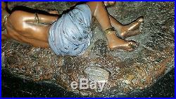 Thomas Blackshear Ebony Visions The Storyteller Legends Bronze Statue 17 Long