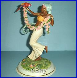 Thomas Blackshear Lenox ROSE BEAUTY Ebony Visions Figurine 12 Ltd Edt COA New