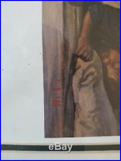 Thomas Blackshear Watchers in the Night Painting Rare Limited Edition Best Offer