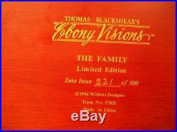 Thomas Blackshear's Ebony Visions The Family L E Figure / Sculpture # 37021