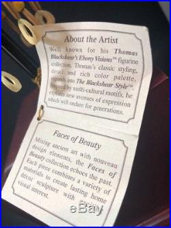 Thomas Blackshear's Terracotta Princess Faces of Beauty Bust On Wood Stand MIB