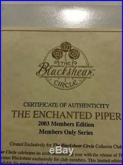 Thomas Blackshear's The Enchanted PiperFigurine includes Bookie members piece