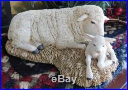 Thomas BlackshearEbony VisionsLimited Edition The Nativity SHEEP with LAMBLenox