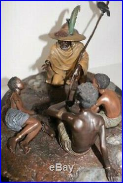 Thomas Blackshears Ebony Visions Bronze Storyteller Edition $3300 with COA