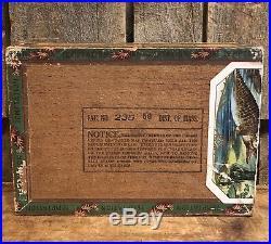 Ultra RARE 1890s Noble Cigar Co Westfield MA TEMPTATION Box Black Americana LOOK