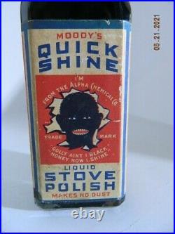Ultra Rare Black Americana Moody's Quick Shine Stove Polish Full