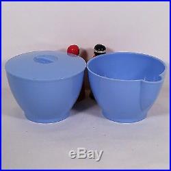 Ultra Rare Blue Aunt Jemima & Uncle Mose Sugar & Creamer F & F Mold & Die Works