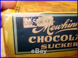 Ultra Rare Ca. 1910 Mewhinney's CHOCOLATE SUCKERS Black Americana Candy Box