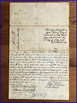 Upson County Georgia Prominent Woman Bequeaths Slaves 1850 Last Will & Testament