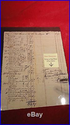 Very Rare 1805 Slave Document-sales Of Goods & Negro Woman-three Children