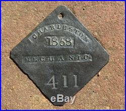 VERY RARE CHARLESTON SLAVE TAG 1858 MECHANIC GUARANTEED AUTHENTIC