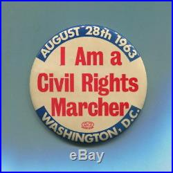 VERY SCARCE 1963 March on Washington CIVIL RIGHTS MARCHER Protest Cause Pin