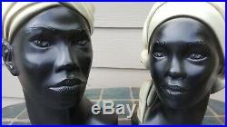 VINTAGE 60s AFRICAN AMERICAN WOMEN BUST STATUE MARIE BROWER BLACKAMOOR ESCO PROD