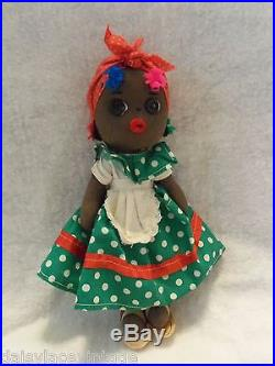 VINTAGE 9 MAMMY DOLL BLACK AFRICAN RAG DOLL AMERICANA COLLECTIBLE