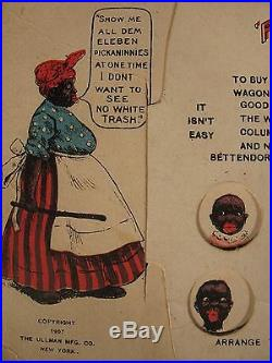 VINTAGE AMERICANA BLACK 1907 PICK THE PICKANINNIES PUZZLE TOY GAME POST CARD