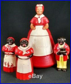 VINTAGE AUNT JEMIMA LOT Black Americana Uncle Mose COOKIE SALT PEPPER SYRUP