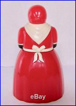 VINTAGE AUNT JEMIMA PLASTIC COOKIE JAR by F&F MOLD & DIE WORKS