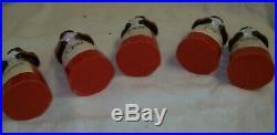 VINTAGE BLACK AMERICANA MEMORABILIA SET OF 5 AUNT JEMIMA Spice Containers