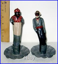 VINTAGE Black Americana Wax Candles Aunt Jemima and Uncle Mose RARE